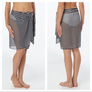 NEW Michael Kors sheer sarong wrap coverup skirt